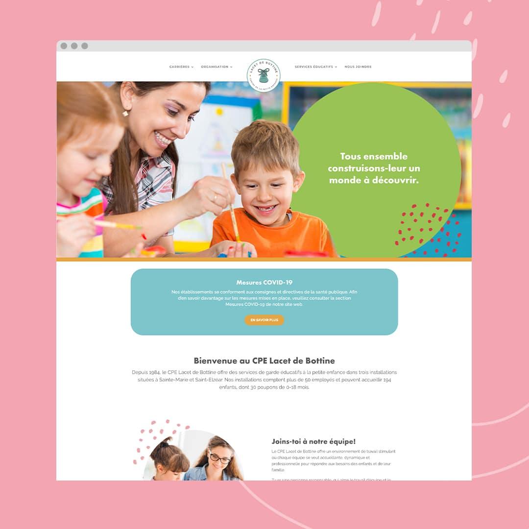 CPE Lacet de Bottine - Un site web réalisé par Kaylynne Johnson
