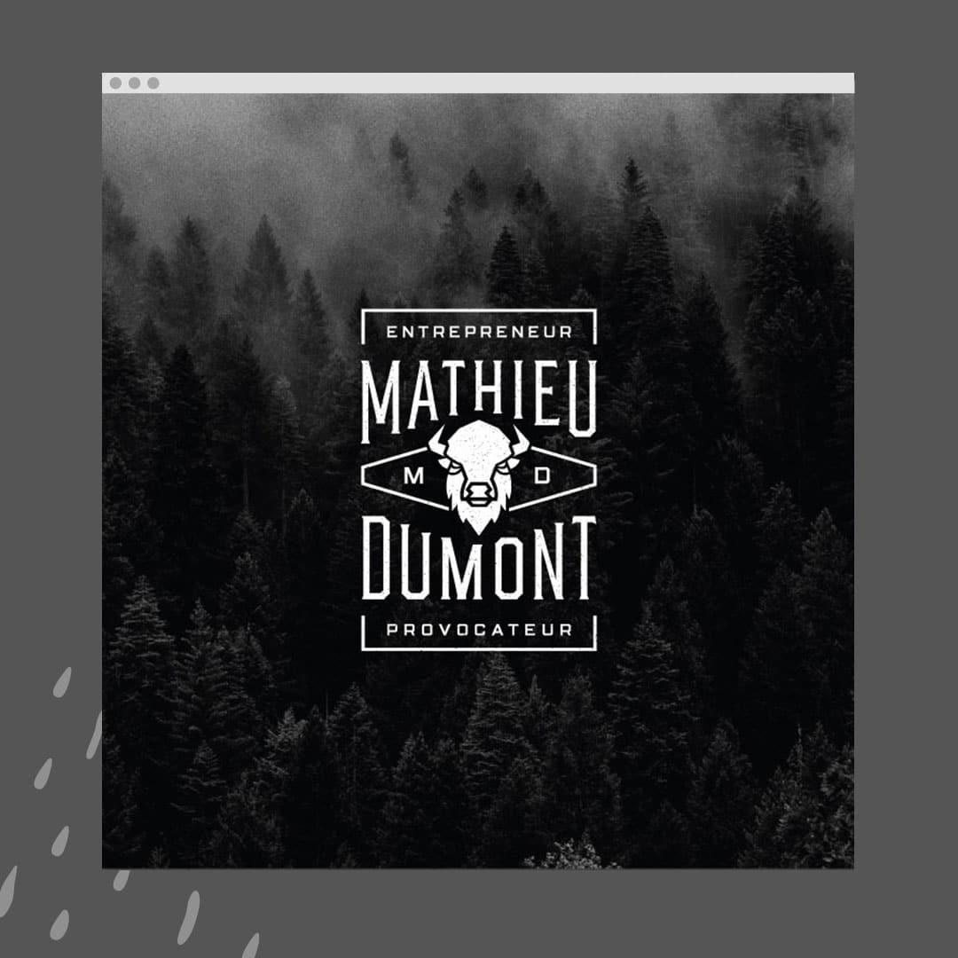 Mathieu Dumont - Un site web réalisé par Kaylynne Johnson