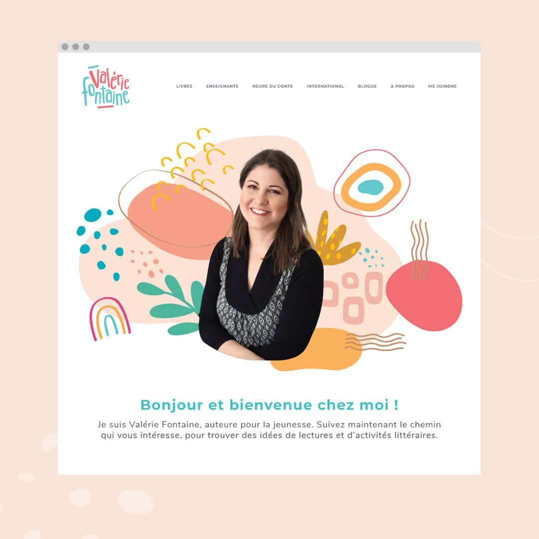 Valérie Fontaine - Auteure jeunesse - Un site web réalisé par Kaylynne Johnson