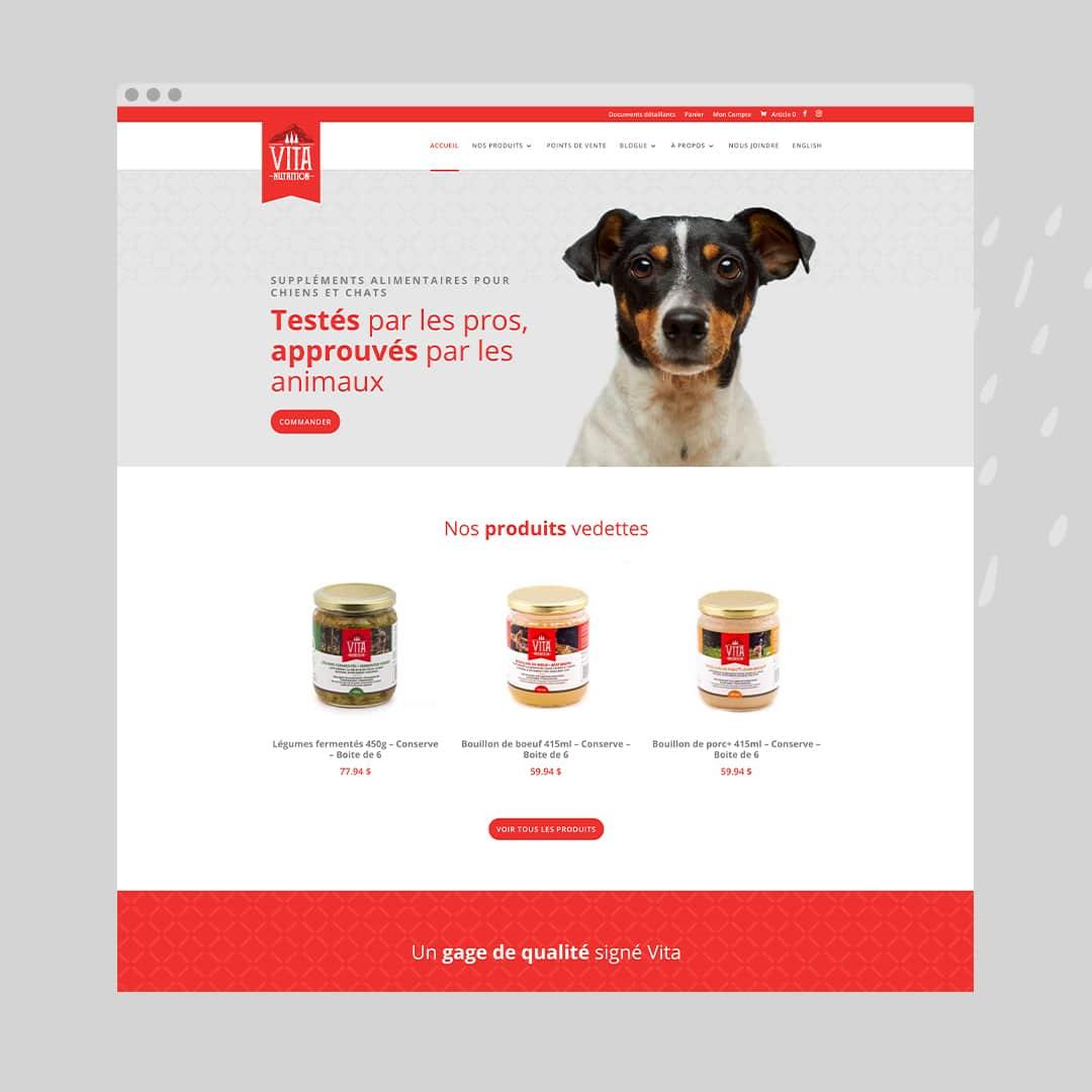 Vita Nutrition Animale - Une boutique en ligne réalisée par Kaylynne Johnson