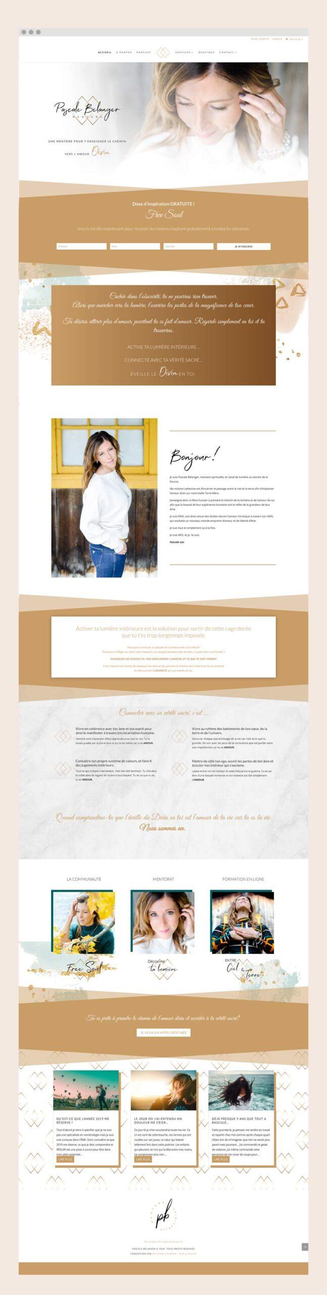 Pascale Bélanger - Un site web réalisé par Kaylynne Johnson