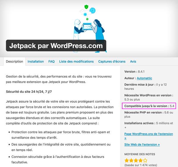 Mise à jour WordPress - Versions d'extensions compatibles - Kaylynne Johnson