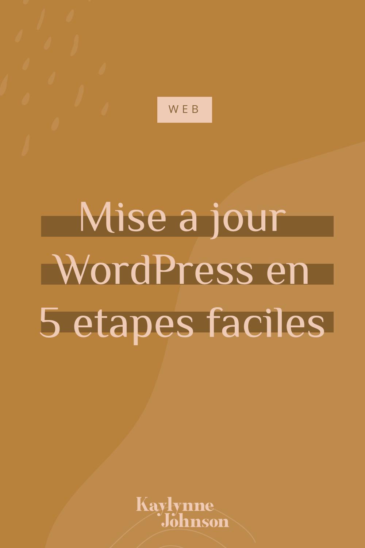 Comment faire la mise à jour de WordPress